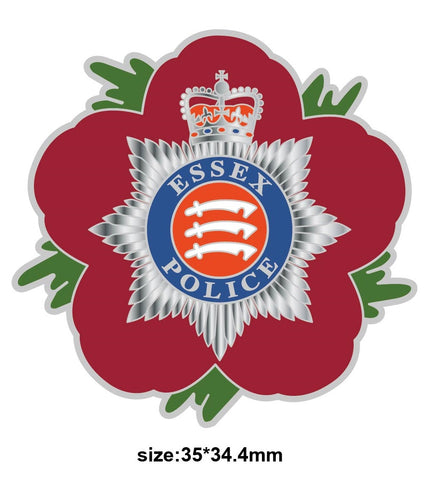 Essex Constabulary Police Remembrance Flower Lapel Pin
