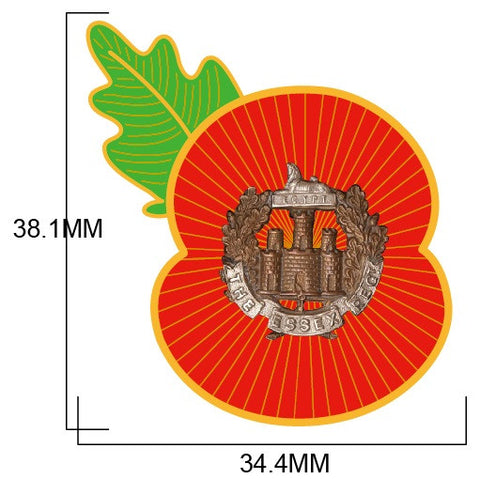 Essex Regiment Remembrance Poppy Pin