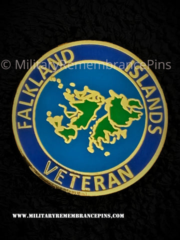 Falkland Islands Veteran Lapel Pin