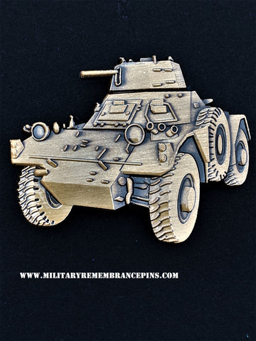 Ferret Armoured Car FV701 Mk 2 Vehicle Lapel Pin