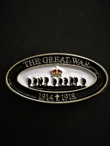 The Great War 1914 - 2018 Oval Lapel Pin