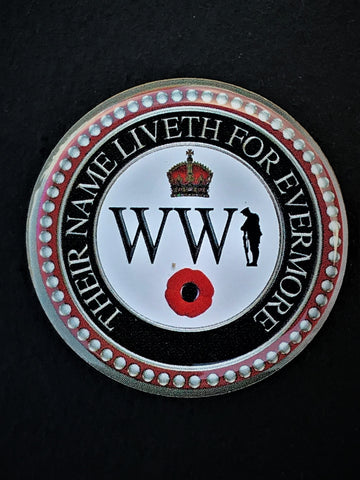 Great War Their Name Liveth For Evermore Colours Lapel Pin