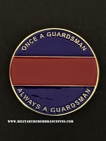 Guards Colours Once A Guardsman Always A Guardsman Lapel Pin