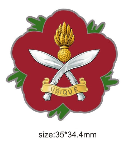 Queen's Gurkha Engineers Remembrance Flower Lapel Pin