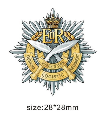10 Queen's Own Gurkha Logistic Regiment RLC Unit Lapel Pin