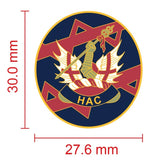 Honourable Artillery Company HAC Colours Lapel Pin