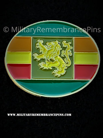Home Defence Force HDF (V) Colours Lapel Pin