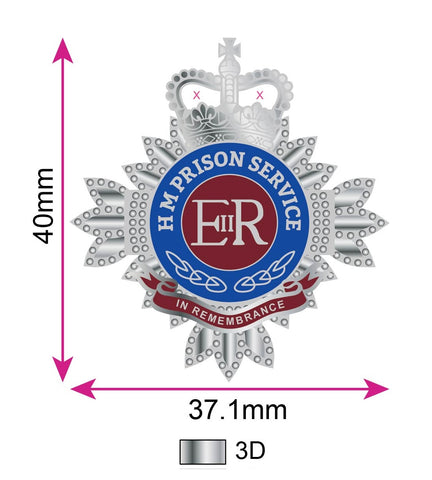 Her Majesty's Prison Service Bathstar In Remembrance Lapel Pin