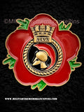 HMS Ajax Royal Navy Remembrance Flower Lapel Pin