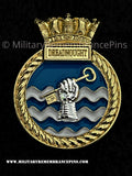 HMS Dreadnought Royal Navy Submarine Ship Crest Lapel Pin