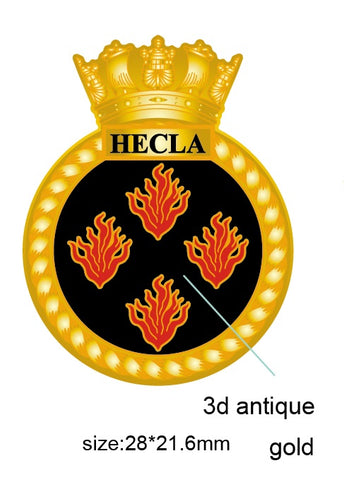 HMS Hecla Royal Navy Ship's Crest Lapel Pin