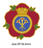HMS Illustrious Royal Navy Remembrance Flower Lapel Pin