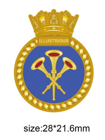 HMS Illustrious Royal Navy Ships Crest Lapel Pin