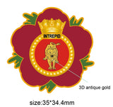HMS Intrepid Royal Navy Remembrance Flower Lapel Pin
