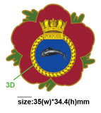 HMS Porpoise Royal Navy Submarine Remembrance Flower Lapel Pin
