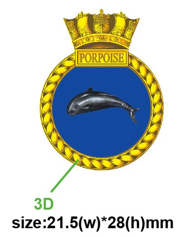 HMS Porpoise Royal Navy Submarine Ships Crest Lapel Pin