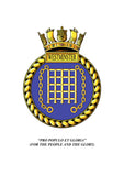 HMS Westminster Royal Navy Ships Crest Lapel Pin
