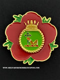 HMS Antrim Royal Navy Remembrance Flower Lapel Pin