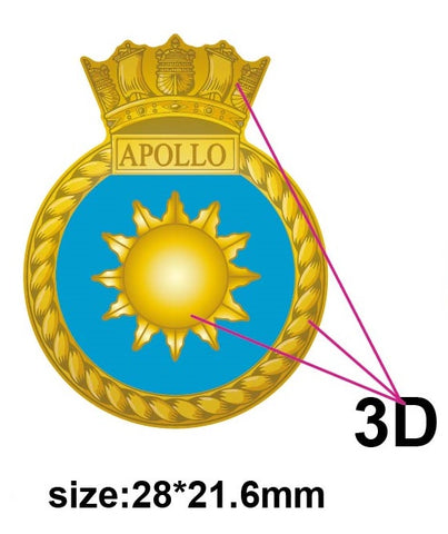 HMS Apollo Royal Navy Ships Crest Lapel Pin