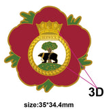 HMS Berwick Royal Navy Remembrance Flower Lapel Pin