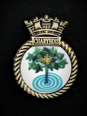 HMS Charybdis Royal Navy Ship Crest Lapel Pin
