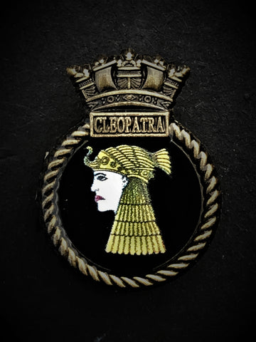 HMS Cleopatra Ship Crest Lapel Pin