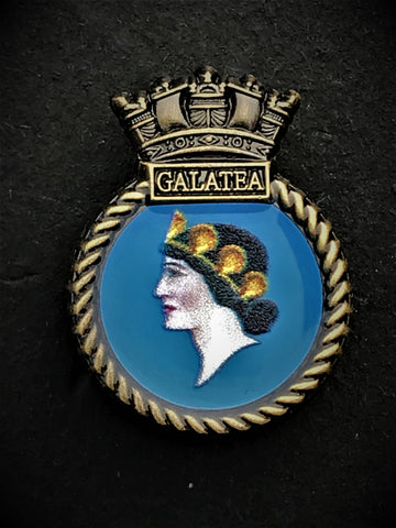 HMS Galatea Ship Crest Lapel Pin (GALATEA LAP)