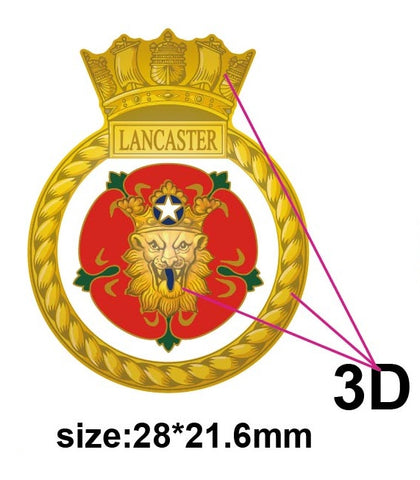HMS Lancaster Royal Navy Ships Crest Lapel Pin
