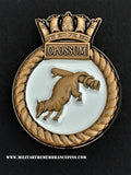 HMS Opossum Royal Navy Ship Crest Lapel Pin