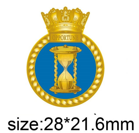 HMS Opportune Royal Navy Ship Crest Lapel Pin