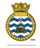 HMS Oracle Royal Navy Ship Crest Lapel Pin
