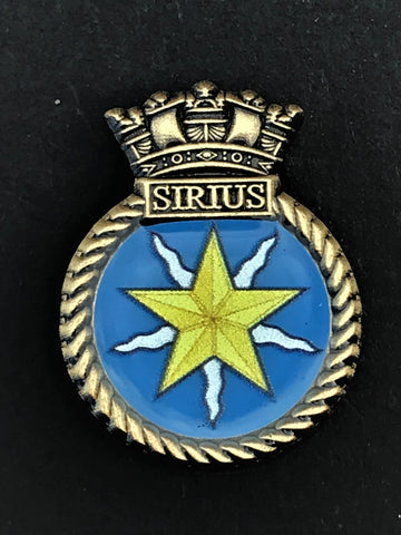 HMS Sirius Royal Navy Ship Crest Lapel Pin