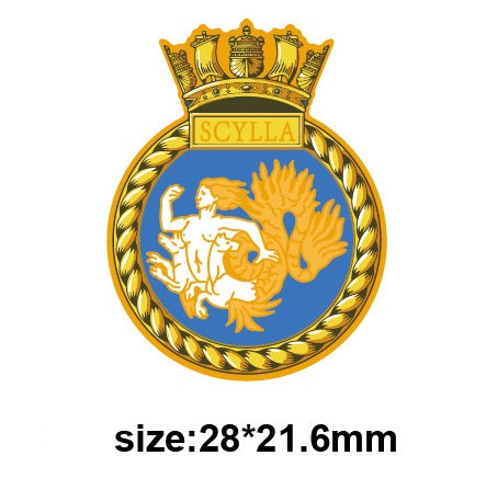 HMS Scylla Royal Navy Ships Crest Lapel Pin