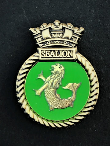HMS Sealion Royal Navy Ships Crest Lapel Pin