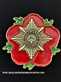 Irish Guards IG Remembrance Flower Lapel Pin