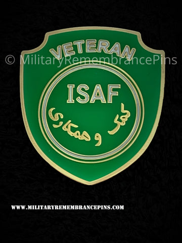 ISAF Veteran Colours Shield Lapel Pin