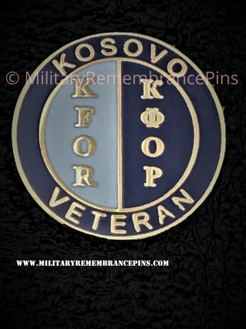 Kosovo Veterans KFOR Colours Lapel Pin