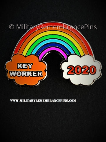 Key Workers Rainbow 2020 Support Lapel Pin