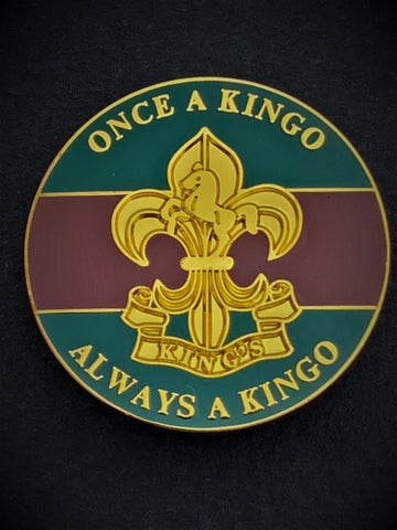 King's Regiment Colours Lapel Pin