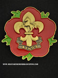 King's Regiment Remembrance Flower Lapel Pin