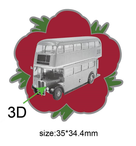 AEC Regent III RT Bus Remembrance Flower Lapel Pin