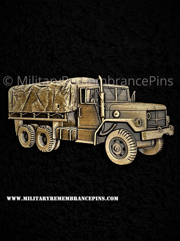 M35A2 Deuce and a half Military Cargo Truck Lapel Pin