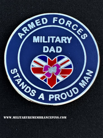 Military Dad Armed Forces Support Lapel Pin