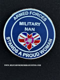 Military Nan Support Armed Forces Lapel Pin
