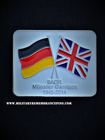 Munster Garrison BAOR Colours Lapel Pin
