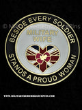Military Wife's Soldier Support Lapel Pin Badge
