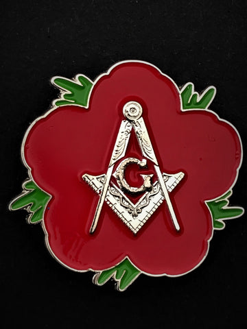 Masonic Masons Remembrance Flower Lapel Pin