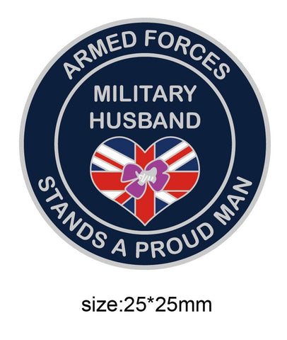 Military Husband Support Armed Forces Lapel Pin