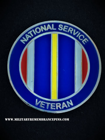 National Service Colours Lapel Pin