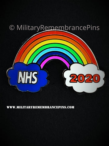 NHS Rainbow 2020 Support Lapel Pin